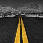 long-desert-road-black-white-free